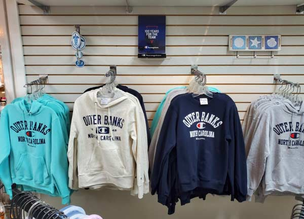 Outer Banks Clothing at Gray's store in Scarborough Faire Shopping Village in Duck, North Carolina.